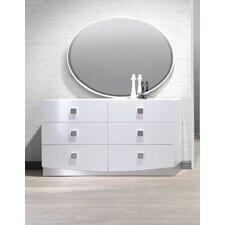 France 6 Drawer Dresser with Mirror