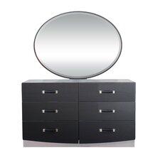 Valencia 6 Drawer Dresser with Mirror