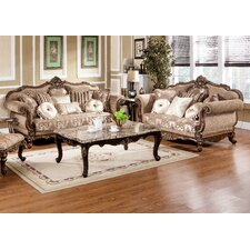 Traditional Sofa and Loveseat Set