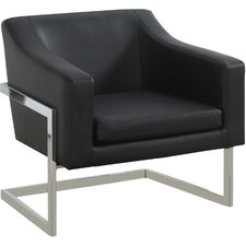 Modern Arm Chair with Chrome Legs