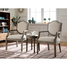 3 Piece Living Room Arm Chair Set