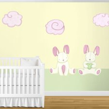 Bunny Rabbits and Cloud Wall Stickers