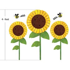 Sunflowers and Bees Wall Stickers