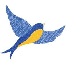 Giant Blue Bird Wall Stickers