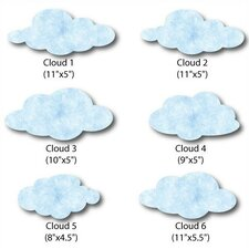 Cloud Wall Decal (Set of 4)