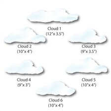 Cloud Wall Decal (Set of 5)