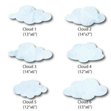 Cloud Wall Decal (Set of 6)