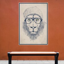 Cool Hipster Lion Wall Decal