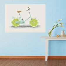 Acid Lime Slice Bicycle  by Florent Bodart Wall Decal