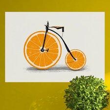 Orange Bicycle Wall Decal