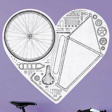 Love Bike Wall Decal