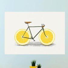 Lemon Bicycle Wall Decal