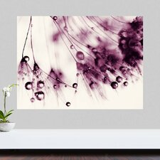 Droplets of Aubergine by Ingrid Beddoes Wall Decal
