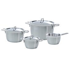 Blue Label 4-Piece Stainless Steel Cookware Set