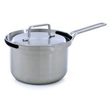 1,7 L Stielkasserolle Flow aus Edelstahl mit Deckel