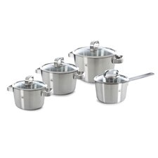 Glas 4-Piece Stainless Steel Cookware Set (Set of 4)