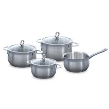 Excellent 4 Piece Stainless Steel Cookware Set