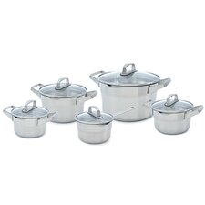 Premium Plus 5-Piece Stainless Steel Cookware Set (Set of 5)