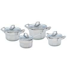 Premium Plus 4 Piece Stainless Steel Cookware Set