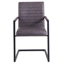 Faux Leather Accent Arm Chair (Set of 4)