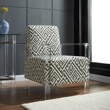 Fabric Accent Chair with Acrylic Arms