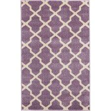 Trellis Purple Area Rug