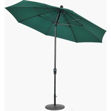 9' Matte Black Push Buttom Tilt Market Umbrella