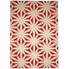 Hand Tufted Flower Red Floral Area Rug