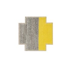 Mangas Space Plait Yellow Area Rug