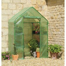 2.5 Ft. W x 5 Ft. D Compact Walk-In Greenhouse