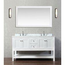 """Emily 60"""" Double Bathroom Vanity Set with Mirror"""