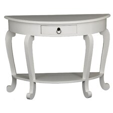 Skagen 1 Drawer Half Moon Console Table