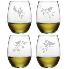 Songbird 4-Piece Stemless Wine Glass Set