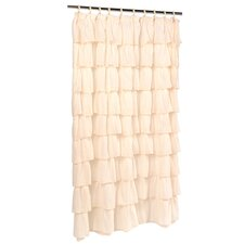Rodemack Voile Ruffled Tier Shower Curtain