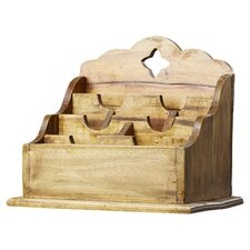 Narcisse Mahogany Letter Holder