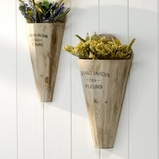 Triste 2 Piece Wall Vase Set