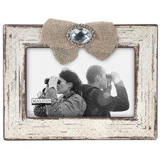 Burlap Ribbon & Jewel 4'' x 6'' Picture Frame
