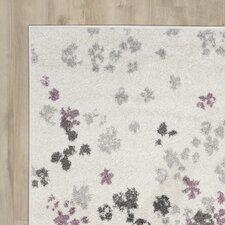Ales Ivory/Purple Area Rug