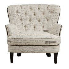 Timothee Script Upholstered Arm Chair