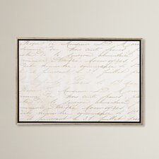 'Letters in Gold' Floater Framed Graphic Art on Canvas