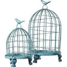 2 Piece Bird Cage Set (Set of 2)