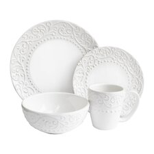 Yaelle Leaf Round 16 Piece Dinnerware Set