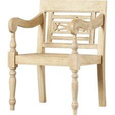 Burnet Carved Wood Armchair