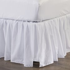 "Bugrane Voile 18"" Drop Bed Skirt"
