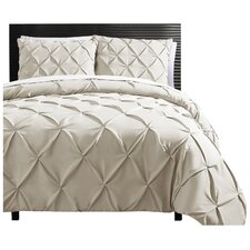 Asphodèle 3 Piece Duvet Cover Set