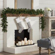 Velvet Classic Christmas Stocking in Shimmer Steel