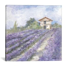 Lavender Fields Painting Print on Wrapped Canvas