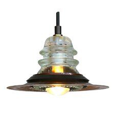 "Insulator Light Pendant with 7"" Metal Hood"