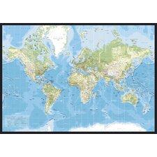 Leinwandbild World Map, Grafikdruck