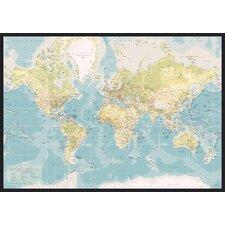 Leinwandbild World Map Retro, Grafikdruck